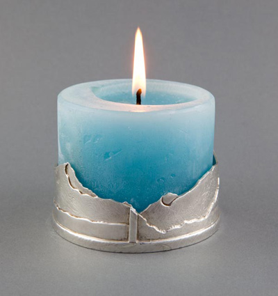 Candle Holder with Alpine Design