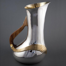 Rosewood handle water pitcher