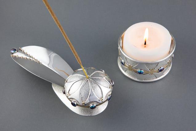 Incense Burner and Candle Holder